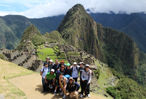 T-P Group at Machu Picchu